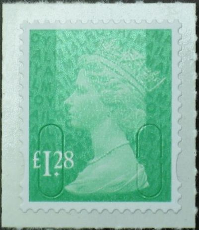 2014 GB - SGU2934-14 £1.28 Emerald Green (D) 2B M14L Mrginal MNH
